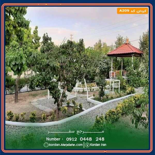 ویلا کردان با استخر روباز آب گرم کد A209